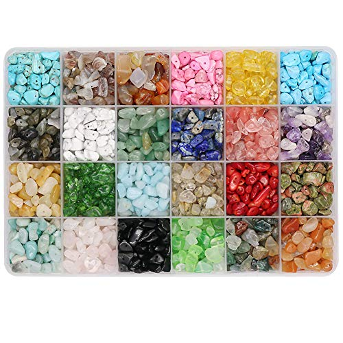 Civilipi Chip Gemstone Beads - Piedras naturales irregulares para hacer pulseras, collares y anillos, regalo para el día de la madre, regalo de Halloween