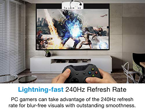 Optoma UHD38 Bright, True 4K UHD Gaming Projector   4000 Lumens   4.2ms Response Time at 1080p with Enhanced Gaming Mode   Lowest Input Lag on 4K Projector   240Hz Refresh Rate   HDR10 & HLG