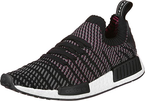 adidas Herren NMD_R1 STLT Primeknit Sneaker, Schwarz (Core Black/Grey Four/Solar Pink 0), 39 1/3 EU