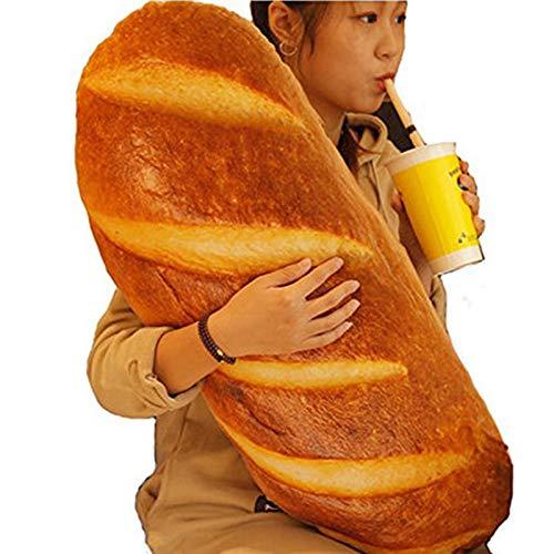 Outtybrave 3D-Kissen in Brot-Form, Lebensmittel-Kissen, Stofftier, Heimdekoration, lustiges Geschenk