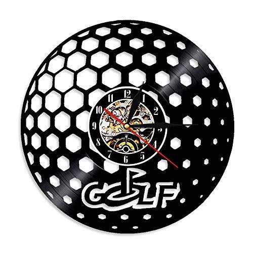 RUIXINBC Golf Vinyl Record Wandklok, Golf Sport Unieke Mute Vinyl Wandklok Golf Uniek Cadeau, 30 Cm