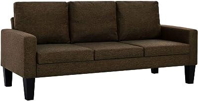 Cavadore 3-Sitzer Sofa Pasle mit Federkern für Küche