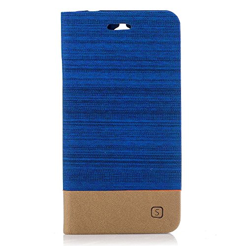 Für Alcatel U5 ot-5044 5044d 5044Y 5.0 Abdeckung Schale Hülle Schutz Cover Case Stand Buch Blau Elektro verkratzt Gel Silikon Gummi TPU Weich Geldbörse