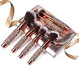 N-B Hot Sale10pcs/set Oro Diamante Pinceles de Maquillaje Conjunto Fundación Mezcla Polvo Ojo Cepillo Cara Cepillo con Bolsa Herramienta de Maquillaje Kitmaquillaje