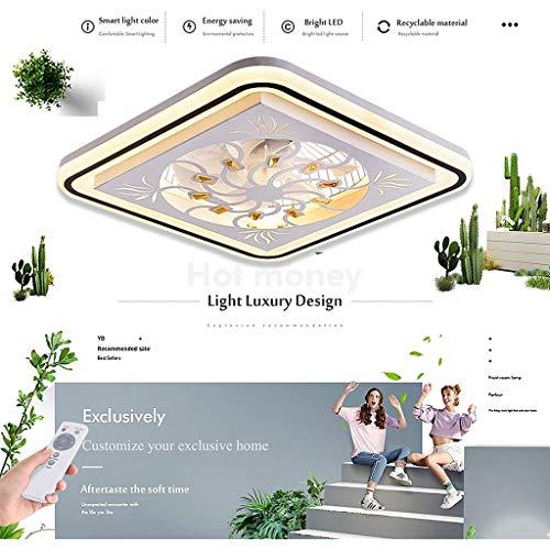 LED Fan Deckenlampe Leise Deckenventilator Mit Beleuchtung Und Fernbedienung Ventilator Dimmbar Für Wohnzimmer Lampe Schlafzimmer Wohnzimmer Kinderzimmer Leise Fan Beleuchtung Pendelleuchte