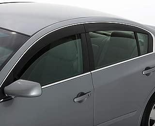 Auto Ventshade 894044 Low Profile Dark Smoke Ventvisor Side Window Deflector, 4-Piece Set for 2015-2018 Ford F-150, 2017-2018 Raptor & F-250 to F-450 Super Duty with SuperCrew Cab