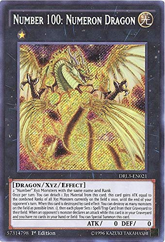 YU-GI-OH! - Number 100: Numeron Dragon (DRL3-EN021) - Dragons of Legend: Unleashed - 1st Edition - Secret Rare