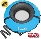 Bradley Snow Tube with 50' Cover | Heavy Duty Inflatable Sledding Tubes (Blue)