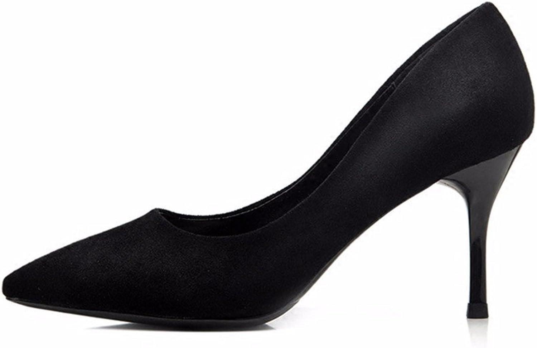 HXVU56546 Schwarze High Heels Mit Feiner Spitze, Mit Wilden Professionelles Arbeiten Frauen Schuhe Einzelne Schuhe  | Zarte