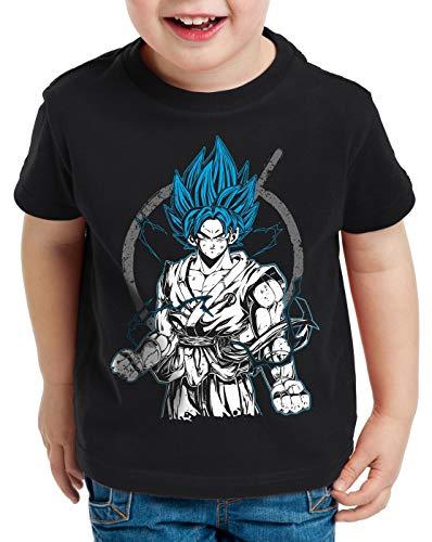 style3 Goku Contender Camiseta para Niños T-Shirt Roshi Ball z Songoku Dragon, Talla:164