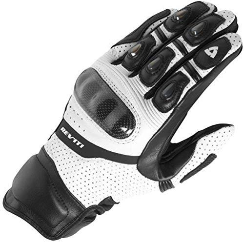 Herren Leder Vollfinger-Motorradhandschuhe, Winddicht wasserdicht Breathble Motocross MTB Radfahren Reiten Motorrad Handschuhe