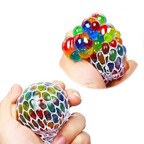 Chilits Balles Anti-Stress, grappe de Raisin Squeeze Ball dans Raisin avec Filet pour et Adultes, Jouet sensoriel Fidget pour et Les Enfants afin de Les Aider à Lutter Contre Le Stress et lanxiété
