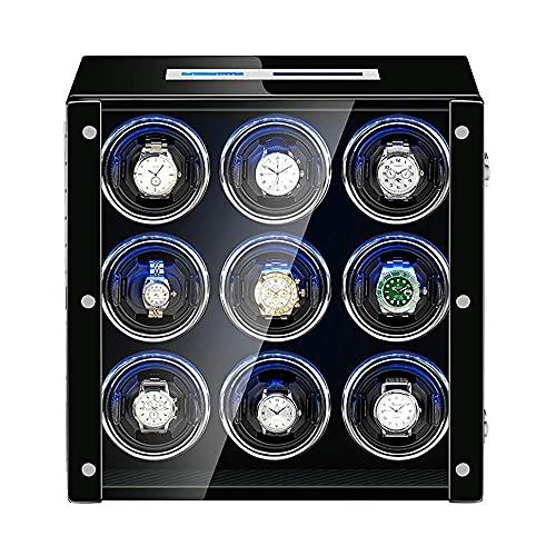 Gymqian Reloj Bander Box para Reloj Automático Reloj Ajustable Almohadas Lcd Pantalla Táctil Incorporada Led Led Piano Pintura Pintura Exterior clásico / 4+0