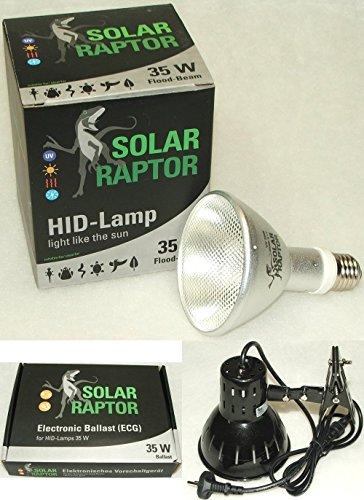 ECONLUX GmbH SolarRaptor HID-Lamp 35 Watt Flood Beam Set inkl. EVG + ClampLamp