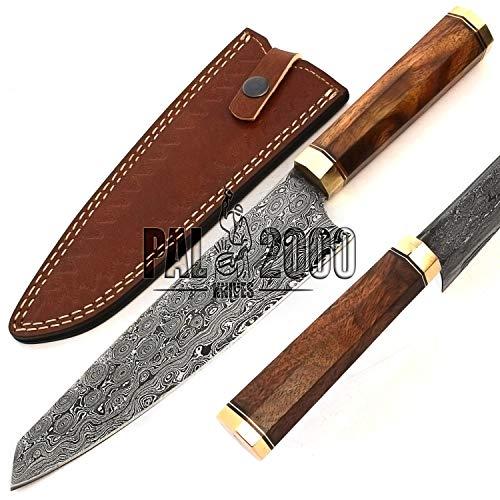 PAL 2000 KNIVES damastmes - handgemaakte messen - koksmes gegarandeerd van damaststaal - keukenmes met deksel 9747