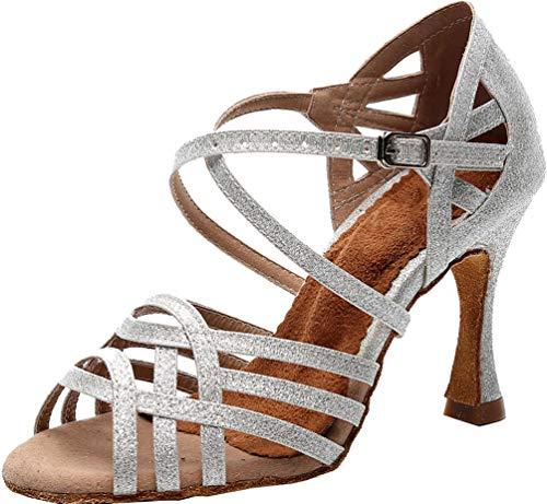 Zapatos de baile de tacón personalizado para mujer Latino moderno Rumba Tango...