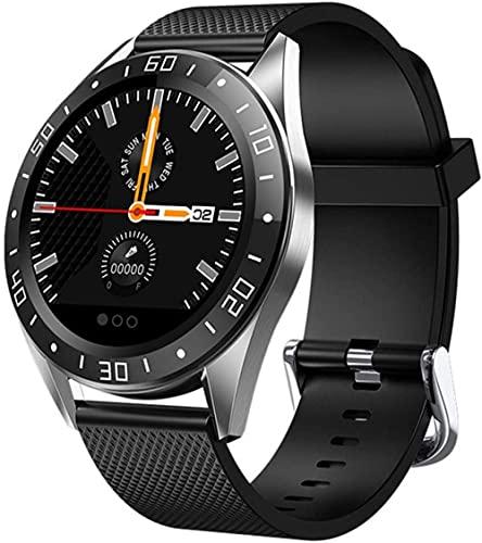 IP67 impermeable GW15 reloj inteligente banda con monitor de ritmo cardíaco de sueño pantalla a color pulsera inteligente pulsera inteligente-negro