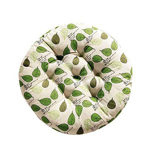 Demarkt Suave Silla Cojín Cojín para Comedor jardín Redondo, Verde, 50 * 50cm