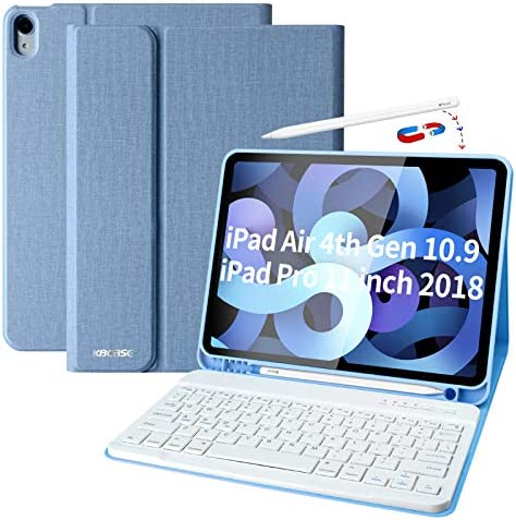 iPad Air 4th Generation Case with Keyboard iPad 10 9 2020 Keyboard Case with Pencil Holder Bluetooth product image