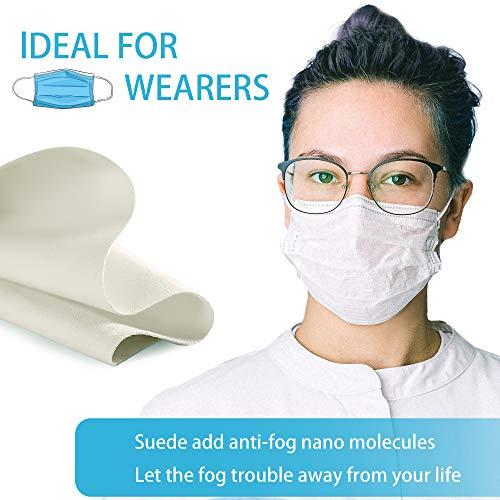510T NdQAeL - Eyeglasses Anti-Fog Cleaning Cloths, Screens, Lens Wipe for All Electronic Device Screens(5 Packs Anti-Fog Wipe)