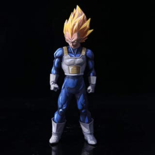 Rqcaxp Figuras Anime Gran tamaño Dragon Vegeta Super Saiyan Drama Versión PVC Figura de acción Vegeta Comics Goku Fight Collection Modelo-C Aprox33cm,Vinilo PVC Coleccionable n