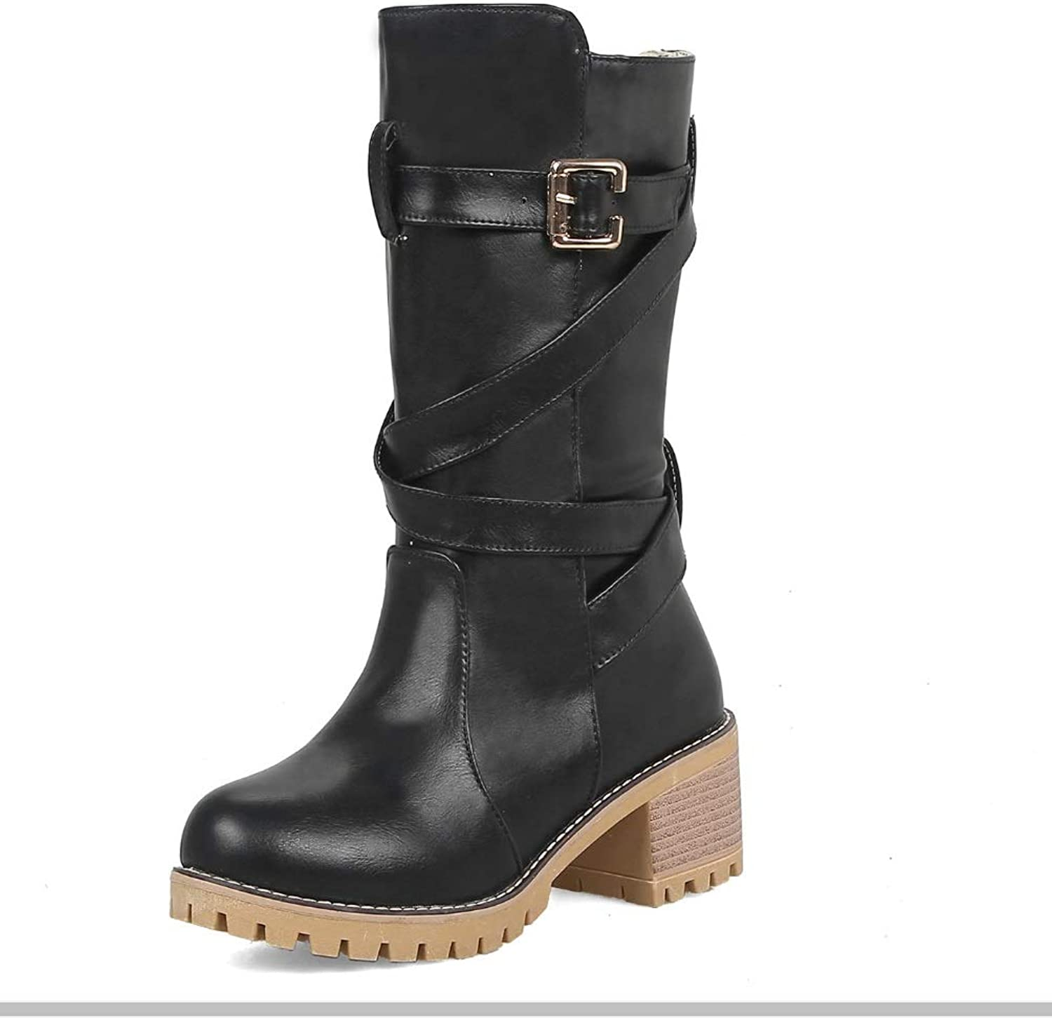 Other Womens Army Combat Boots Grip Sole Biker Calf BootsWork High Top Desert Lace Up Rubber Boots shoes Best Choice for Daily Wear Size