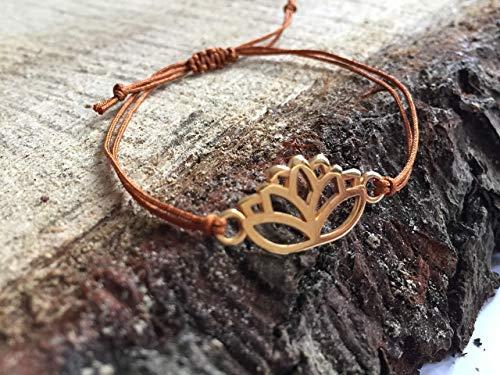 Macrame Armband, Festival, Lotusblüte, 100% Vegan, Geschenk Armband, Freundschaftsarmband