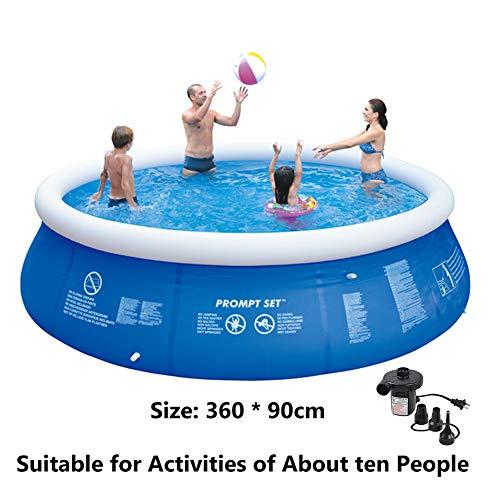 Super11Six 55333 Piscine Ronde Autostable, piscinette Hors Sol Gonflable Lourde, Fit Environ 8 Personnes dans la pataugeoire Utiliser, Diamètre 360 cm * Haut 90 cm,360 * 90cm