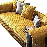 MNSSRN Cubierta Protectora del sofá de látex, Cubierta Antideslizante, Fresco, Transpirable, de sofá Desmontable, Adecuado para sofás de Esquina de sofás modulares,Amarillo,110x210cm(43x83inch)