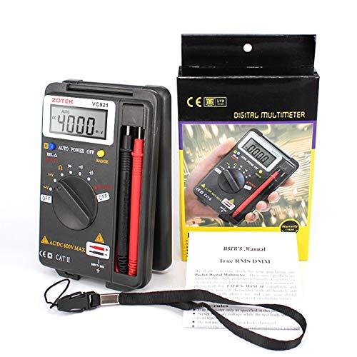 ZOTEK VC921 Mini Tragbares Multimeter für Multimeter mit automatischer Taschenanzeige