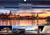 Dresden Die Perle an der Elbe (Wandkalender 2022 DIN A3 quer): Eindruecke von der Dresdener Altstadt (Monatskalender, 14 Seiten )