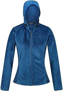 Regatta Women's Siddington Stretch Side Panels Hooded Softshell Jacket Fleece, BlueOpal/BlueOpal, 16