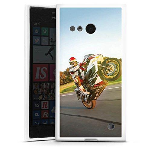 DeinDesign Silikon Hülle kompatibel mit Nokia Lumia 735 Hülle weiß Handyhülle Motorrad YouTube