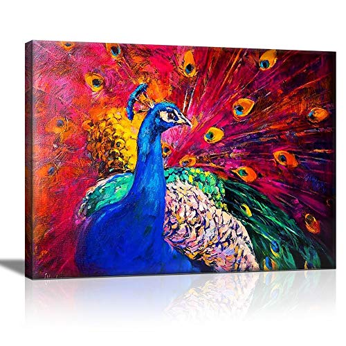 Peacock Showing Its Feathers - Canvas Art Wall Decor - 12