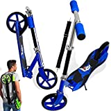 KESSER® Scooter Roller Kinderroller Cityroller Tretroller Kickroller Kickscooter, Design / Shark (Blue)