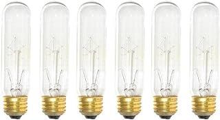 Sterl Lighting - Pack of 6 Bulbs, 40-Watt T10 Clear Tubular Incandescent, Medium Base (E26), 120-Volt Light Bulb