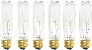 Pack of 6 25 Watt T10 Clear Tubular Incandescent Medium (E26) Base 120-Volt Light Bulb