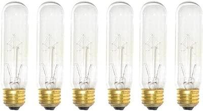 (Pack of 6) 60-Watt T10 Clear Tubular Incandescent Medium (E26) Base 120-Volt Light Bulb