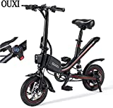 OUXI Vélos Électriques pour Adultes, Velo Electrique avec Roues 250w 7,8ah 36v 12' Vélo Pliant Léger pour Hommes Sportif Aptitude Extérieur (Noir)