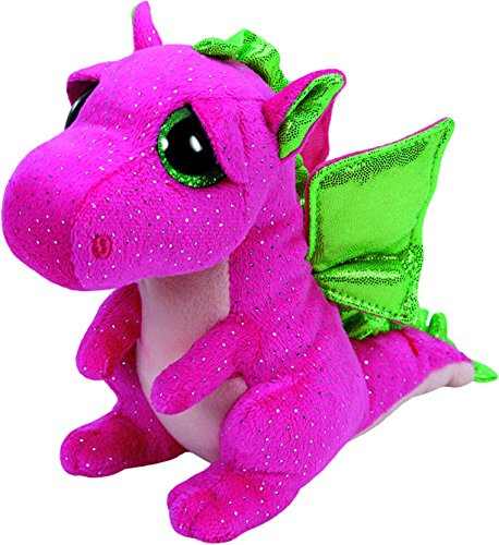 TY - Beanie Boos Darla, peluche dragón, 15 cm, color rosa (United Labels...