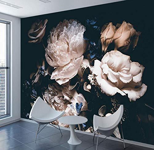 3D vliesbehang fotobehang premium fotobehang roze zijde wandschilderij behang 3D natuur contact behang papieren wooncultuur behang voor woonkamer 3D zelfklevende wandschilderijen kunst 250*175 250 x 175 cm.