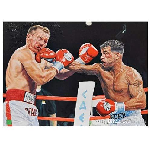 wzgsffs Arturo Gatti Vs Micky Ward boks sport plakat i nadruki sztuka ścienna nadruk na płótnie do salonu domu sypialni - 61 x 81 cm x 1 bez ramy