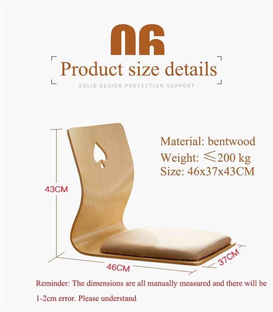 Vidsdere Chaise de sol japonaise Tatami Lit Siège Dortoir sans pieds Zaisu Siège de sol Style Japon Meubles de salon B
