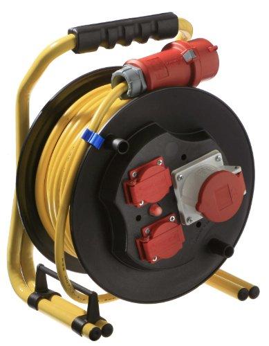 as - Schwabe 10160 CEE-PROFI-kabelhaspel 285mmØ 25m K35 AT-N07V3V3-F 5G1,5 geel, IP44 buiten