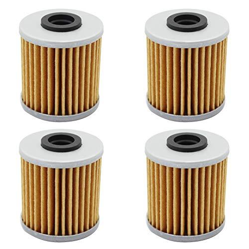 cyleto Ölfilter für 250 400 RMZ 250 rm-z250 2004-2015/RMZ 450 2005-2015 (4 Stück)