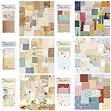 Papel para scrapbooking, 360 unidades, vintage, flores decorativas, papel adhesivo, sellos, scrapbooking, accesorios, papel decorativo, para diario, cuaderno, manualidades, arte y artesanía