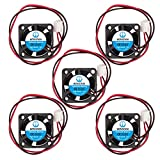WINSINN 25mm Fan 12V Hydraulic Bearing Brushless 2510 25x10mm for DIY Mini Cooling PCB/Notebook/Graphics Card - High Speed (Pack of 5Pcs)