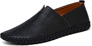 Femaroly Casual Leather Shoes Business Oxford Dress Shoes Slip On Water Resistant Close Toe for Men