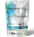 Collagen Pulver | Premium Multi Collagen Complex | Kollagen Hydrolysat | Peptide Typ 1,2,3,4,5 | Geschmacksneutral | Ohne Zusatzstoffe | Eiweiß | Protein | Aminosäuren | Mastervalley | 500g