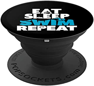 Eat Sleep Swim Repeat - PopSockets Grip and Stand for Phones and Tablets